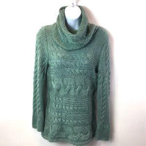 Banana Republic Sweater Green Wool Angora Bld Sz S